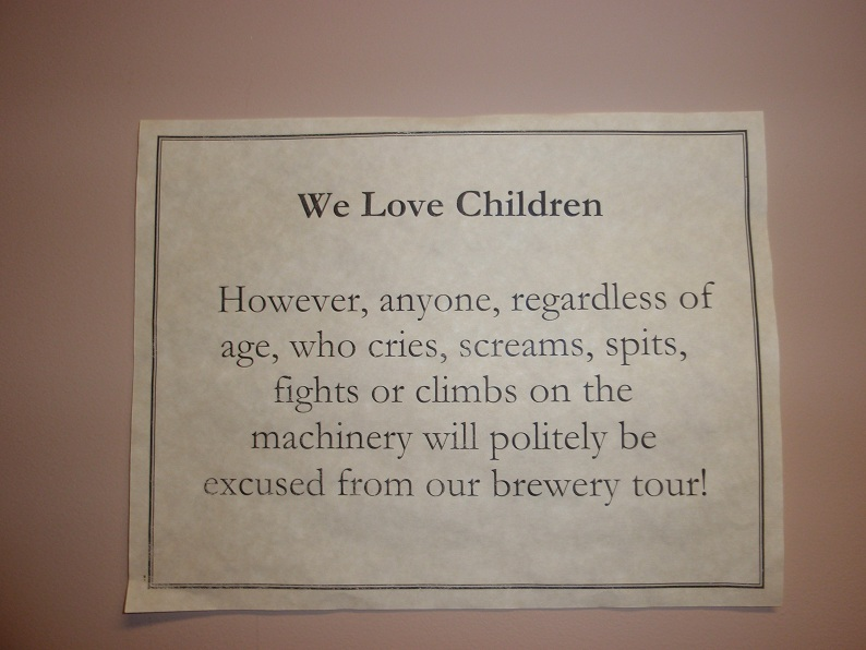 Awesome Sign at New Glarus