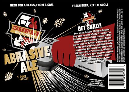 Surly Abrasive Ale Label
